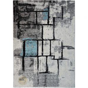 שטיח אבסטרקט מעצבים בצבעי אפור טורקיז