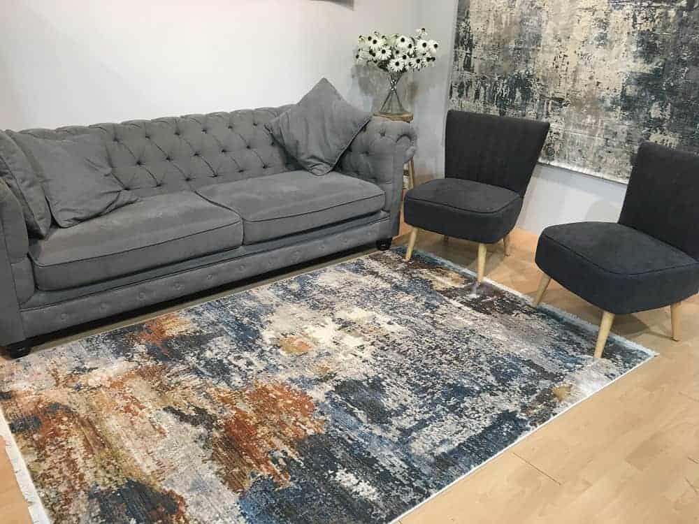שטיח צבעוני לסלון